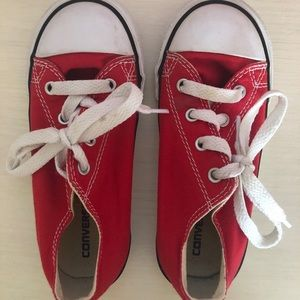 Size 10 Red Converse Shoes